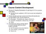 course content development
