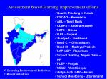 assessment based learning improvement efforts