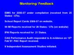 monitoring feedback