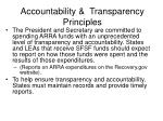 accountability transparency principles