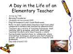a day in the life of an elementary teacher
