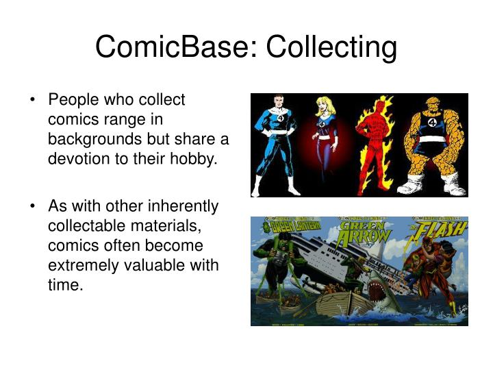 Comicbase collecting