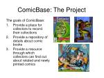 comicbase the project
