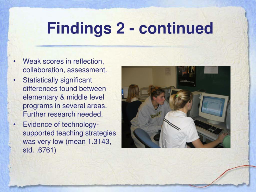 Findings 2 - continued