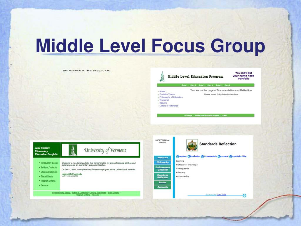 Middle Level Focus Group