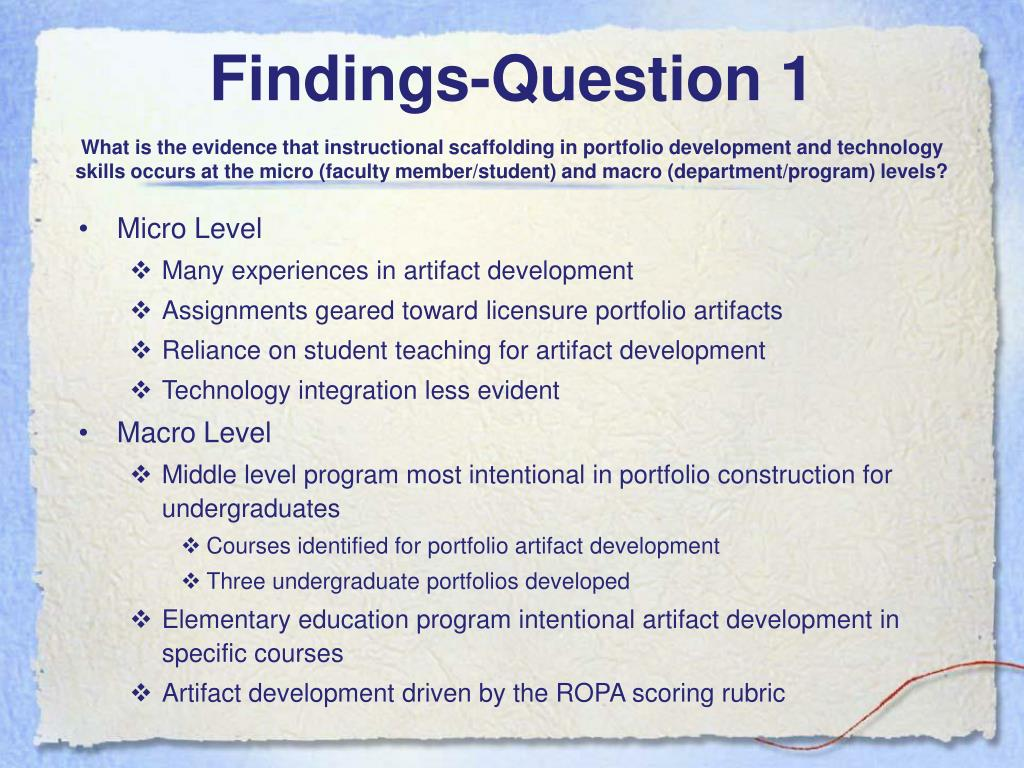 Findings-Question 1