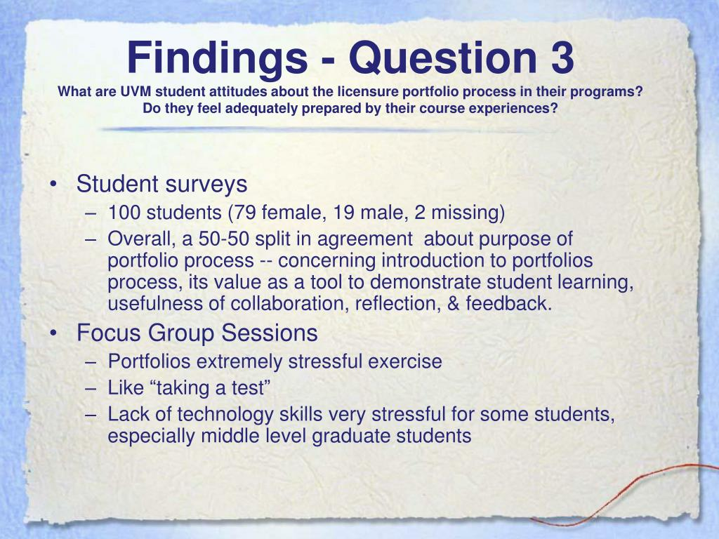 Findings - Question 3