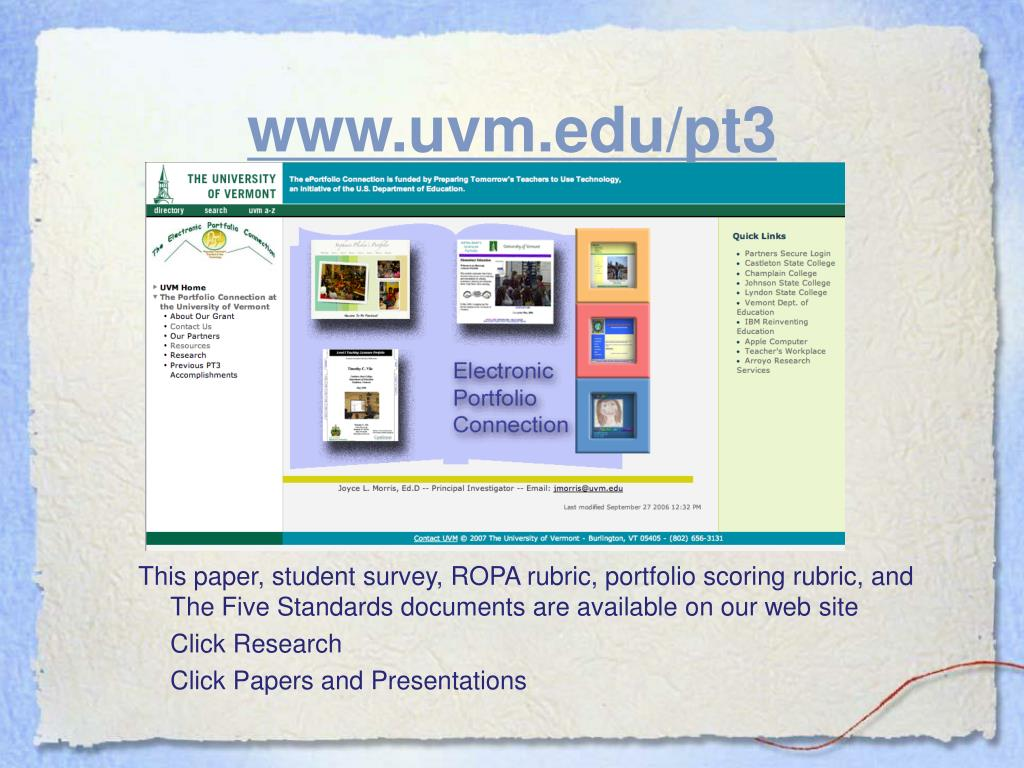 www.uvm.edu/pt3