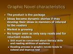 graphic novel characteristics