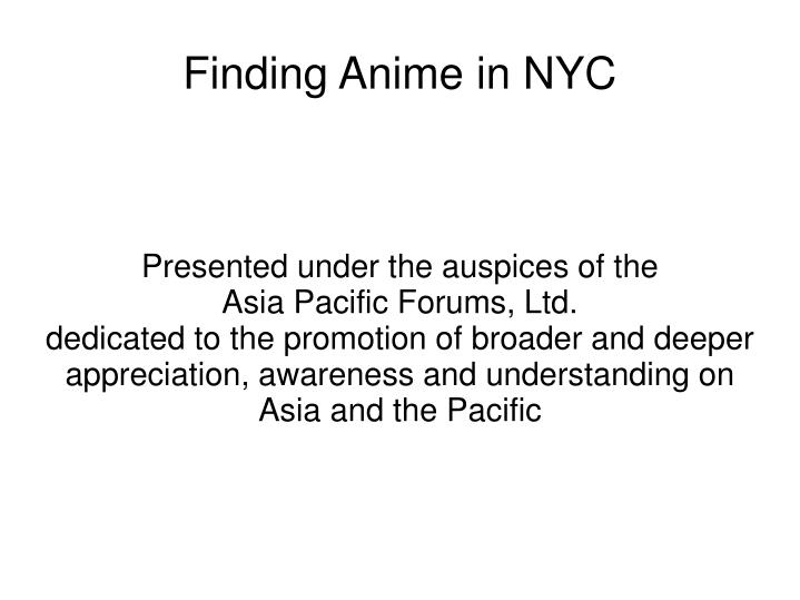 Finding anime in nyc2
