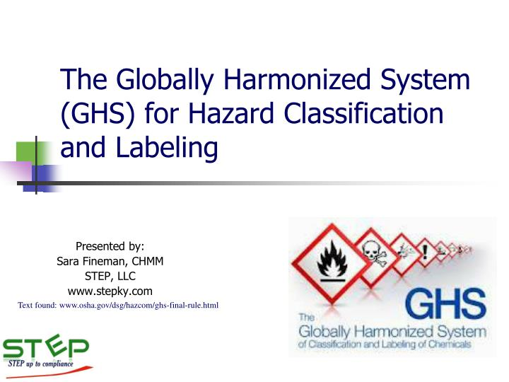 the globally harmonized system ghs for hazard classification and labeling n.