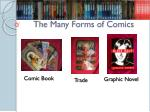 the many forms of comics
