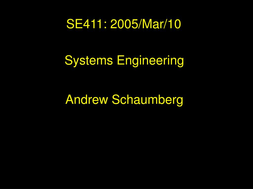 systems engineering l.