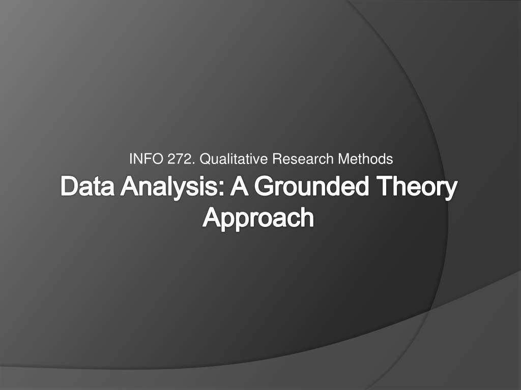 INFO 272. Qualitative Research Methods
