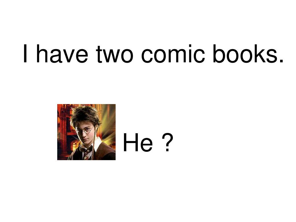 i have two comic books l.
