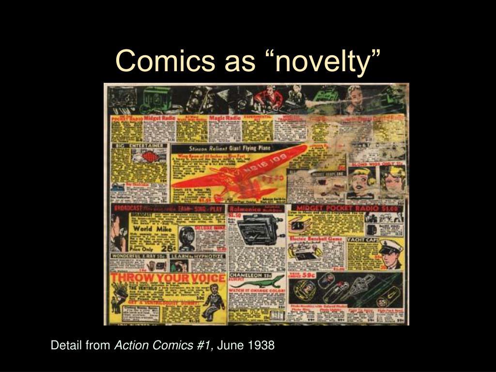 """Comics as """"novelty"""""""