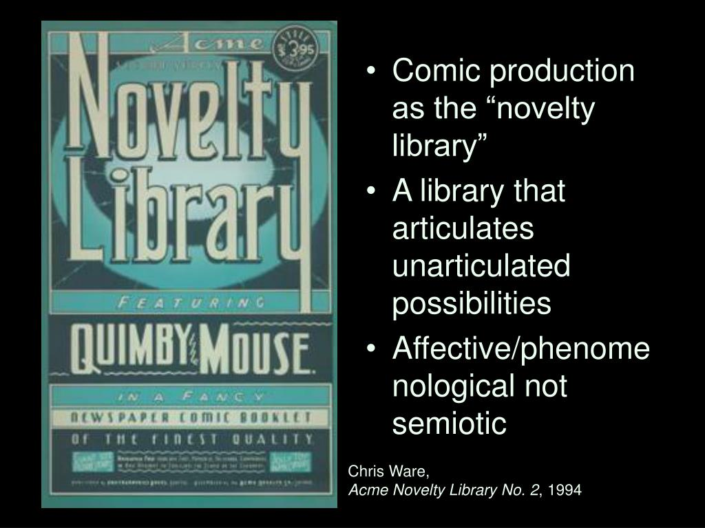 """Comic production as the """"novelty library"""""""