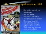 the amazing spiderman in 1963