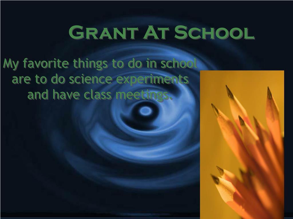 Grant At School