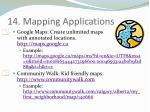 14 mapping applications