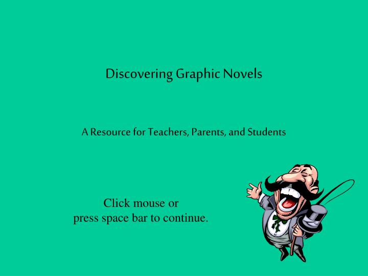 Discovering graphic novels