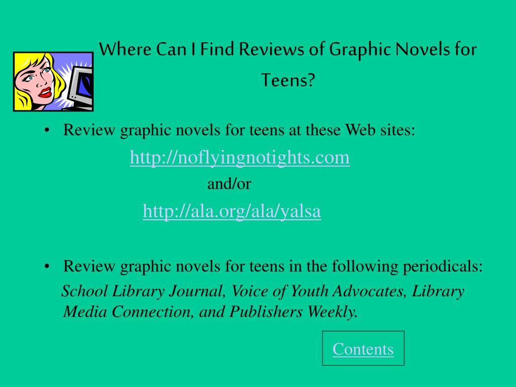 Where Can I Find Reviews of Graphic Novels for Teens?