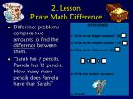 2 lesson pirate math difference
