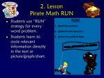 2 lesson pirate math run