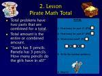 2 lesson pirate math total