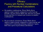 efficacy fluency with number combinations and procedural calculations