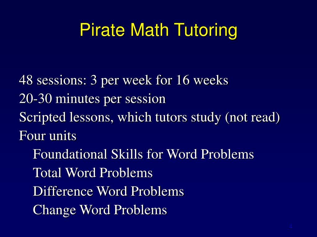 Pirate Math Tutoring