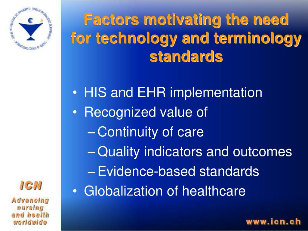 Factors motivating the need