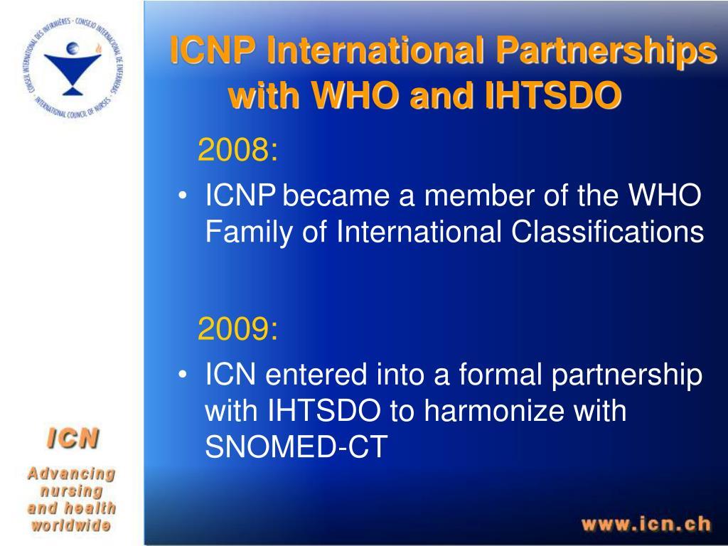 ICNP International Partnerships