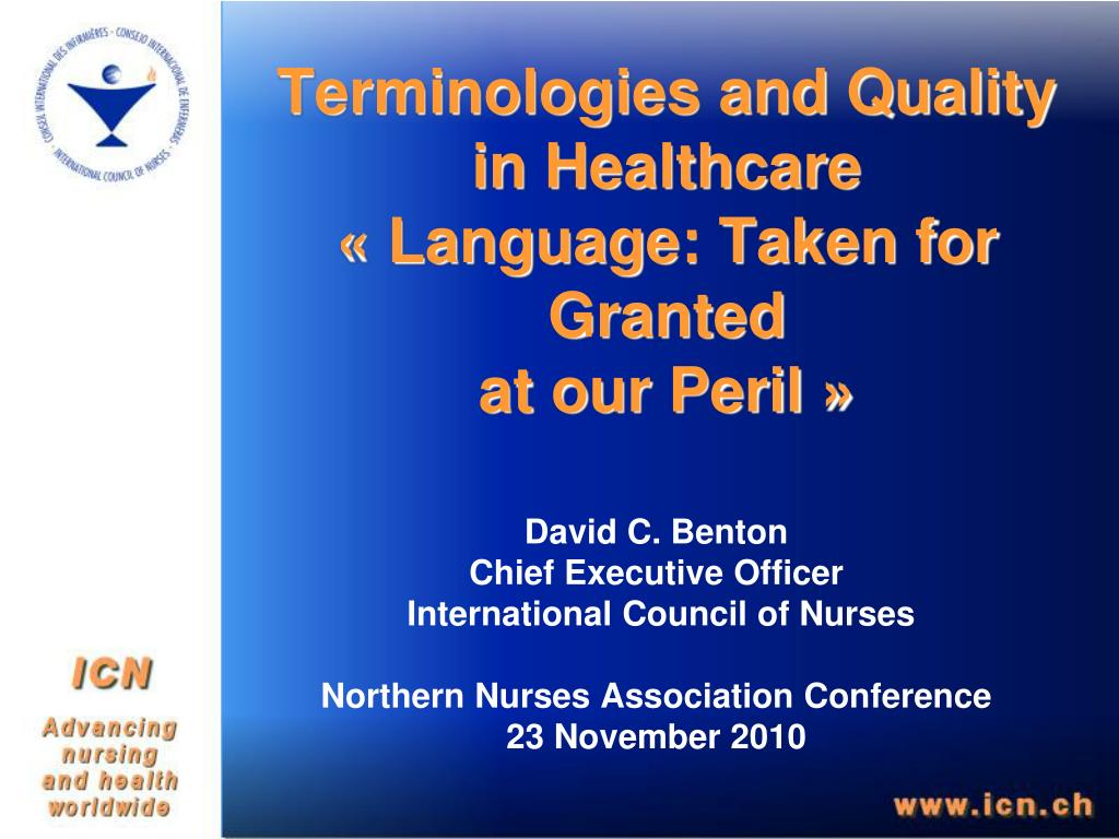 Terminologies and Quality in Healthcare