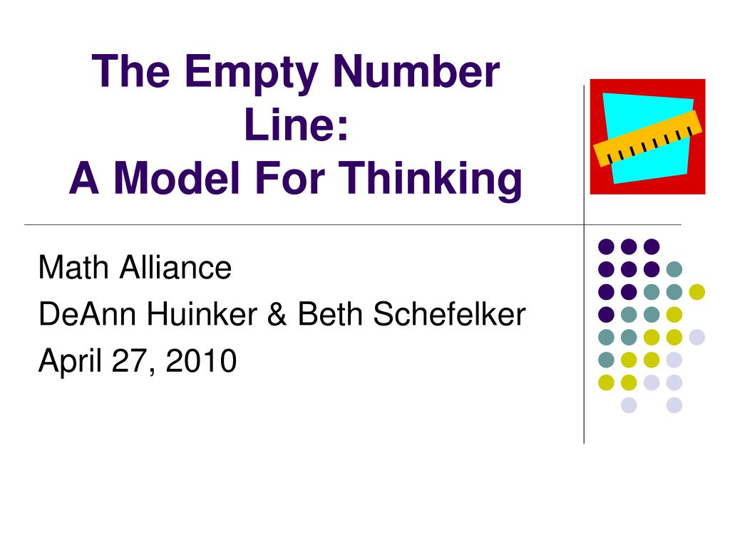 the empty number line a model for thinking l.