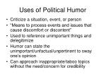 uses of political humor