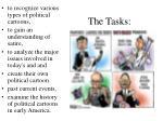 the tasks