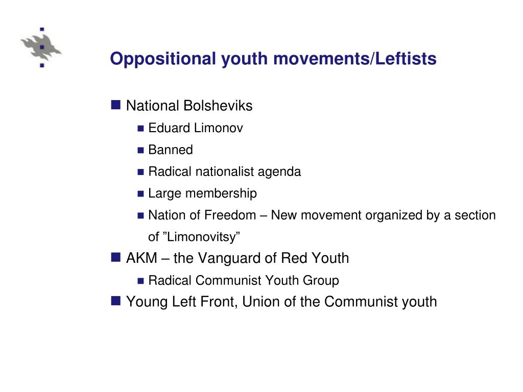 Oppositional youth movements/Leftists