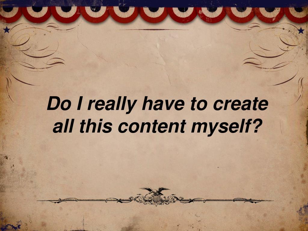 Do I really have to create