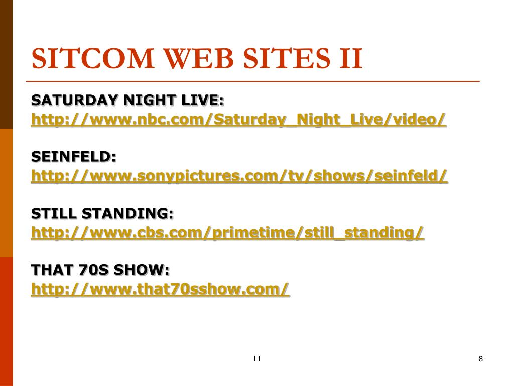 SITCOM WEB SITES II
