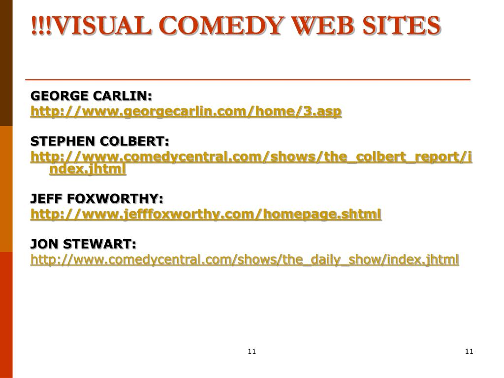 !!!VISUAL COMEDY WEB SITES