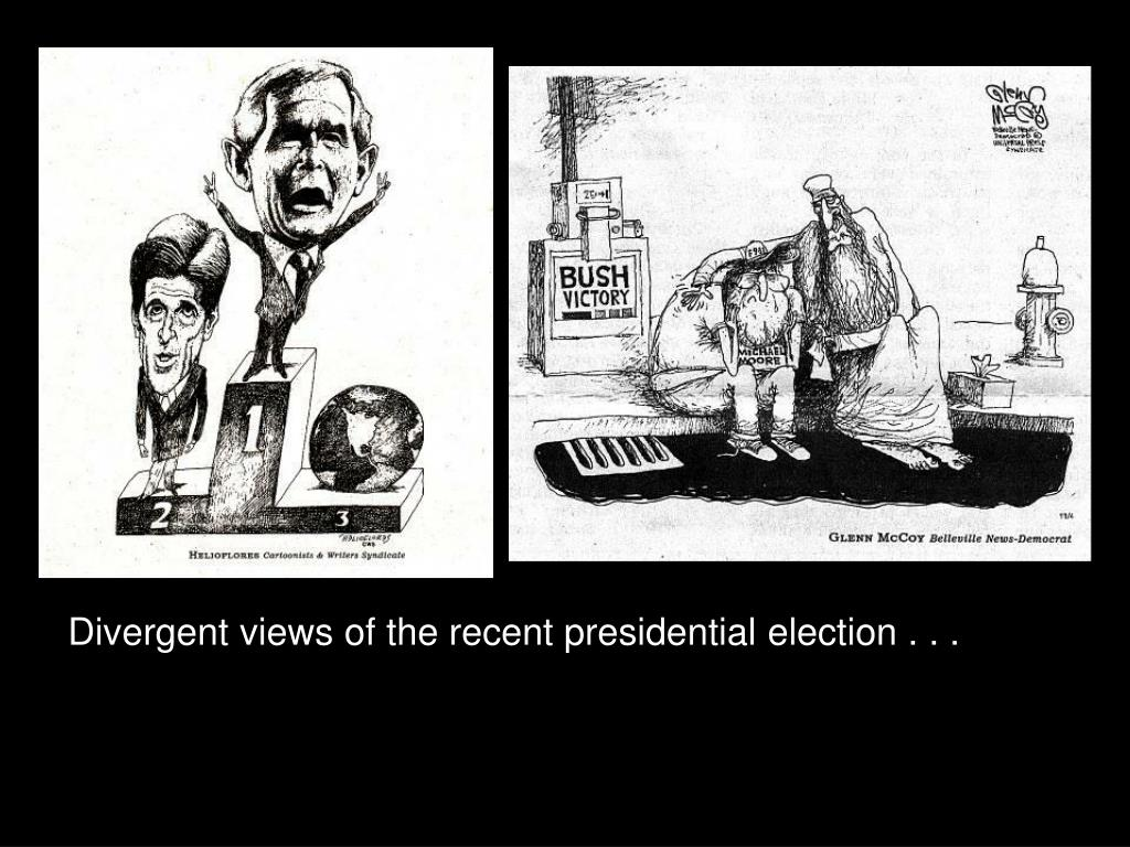Divergent views of the recent presidential election . . .