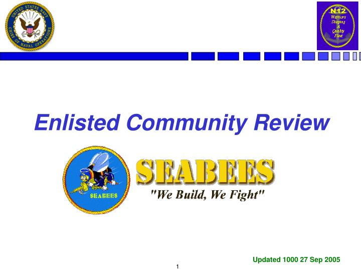 Enlisted community review