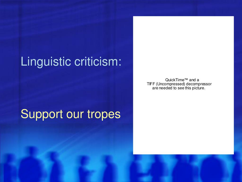 Linguistic criticism: