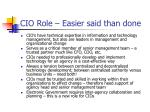 cio role easier said than done