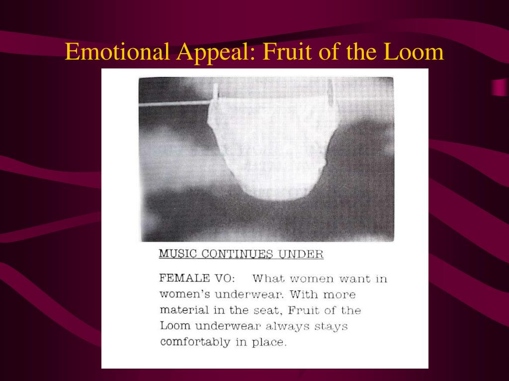 Emotional Appeal: Fruit of the Loom