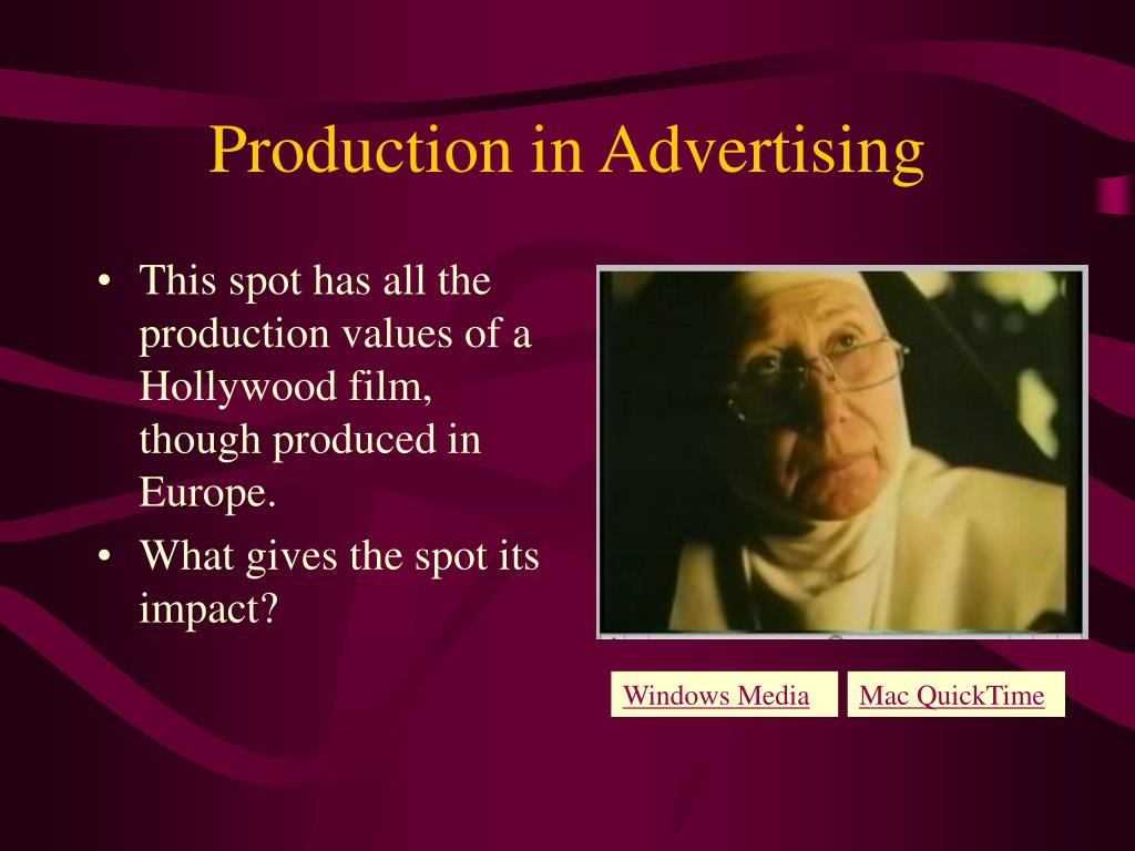Production in Advertising