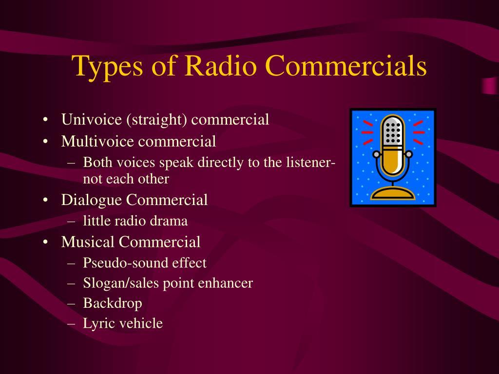 Types of Radio Commercials