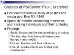 classics of policomm paul lazarsfeld