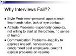 why interviews fail